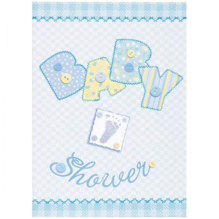 Baby Blue Stitching Invitations (8)