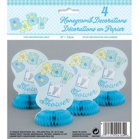 "Baby Blue Stitching 6"" Honeycombs (4)"