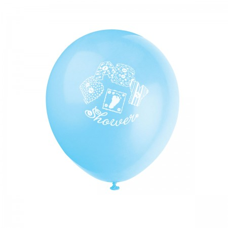 "Baby Blue Stitching 12"" Balloons (8)"