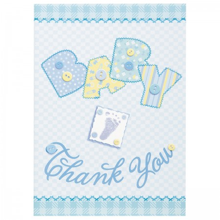 Baby Blue Stitching Thank You Notes (8)