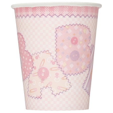 Baby Pink Stitching 9 OZ Cups (8)