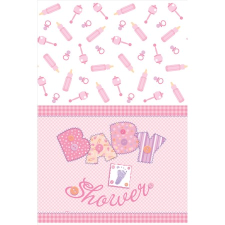Baby Pink Stitching Plastic Tablecover (1)
