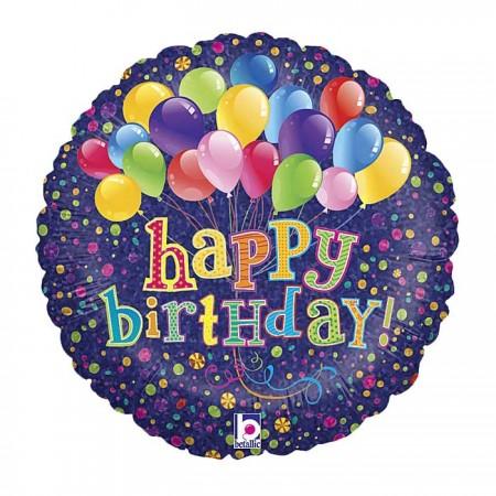 "Big Bunch of Balloons Birthday Foil Balloon 18"" (1)"
