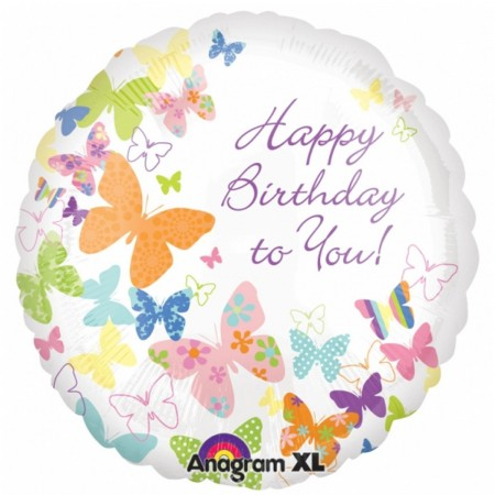 Birthday Butterflies Foil Balloon (1)