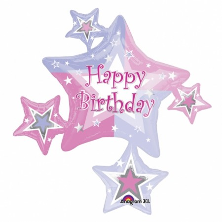 Birthday Shimmer Cluster Foil Balloon (1)