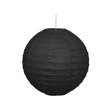 """Black Round Lantern 10"""" (1)"""