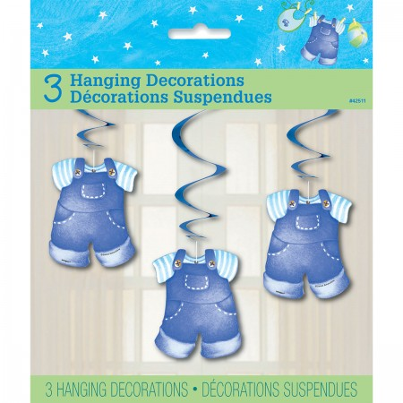 "Blue Clothesline Baby Shower Hanging Swirls 26"" (3)"