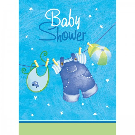 Blue Clothesline Baby Shower Invitations (8)