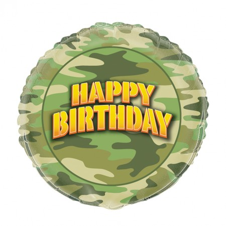 Camo Party Foil Balloon (1)