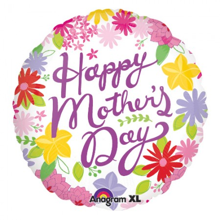 """Cheerful Mother's Day Foil Balloon 32"""" (1)"""