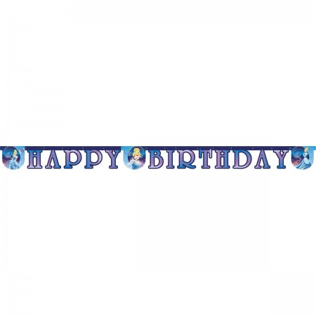 """Cinderella """"Happy Birthday"""" Die-Cut  Banner (1)"""