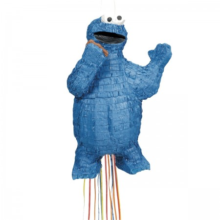 Cookie Monster Pull String Pinata (1)