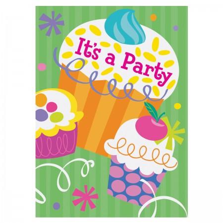 Cupcake Party Invitations (8)