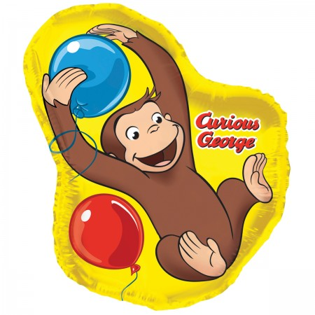 "Curious George Giant Shaped Foil Balloon 35"" (1)"