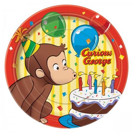 Curious George Dessert Plates (8)