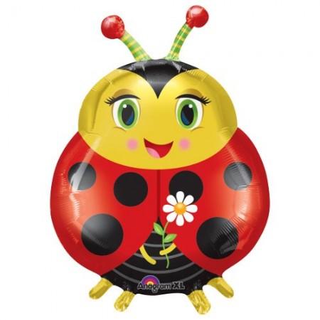 """Cute Ladybug Shape Foil Balloon 27"""" (1)"""