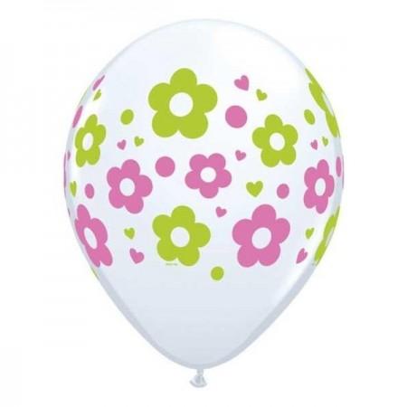 """Daisies, Dots & Hearts Latex Balloon 11"""" (1)"""