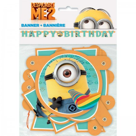 Despicable Me Minion Jointed Birthday Banner (1)