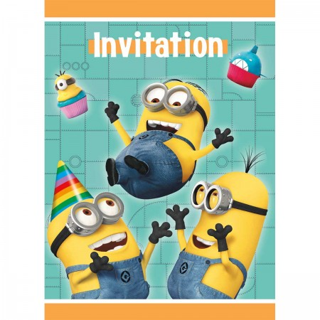 Despicable Me Minion Invitations (8)