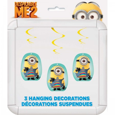 Despicable Me Minion Hanging Swirl Decorations (3)