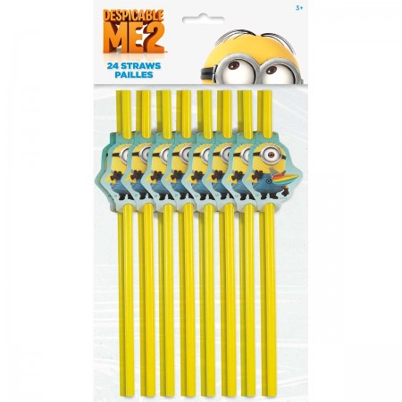 Despicable Me Minion Party Straws (24)