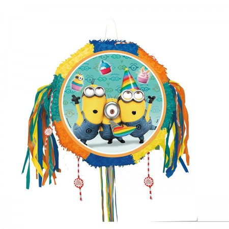 Despicable Me Minion Drum Pull Pop-Out Piñata (1)