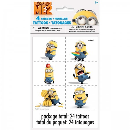 Despicable Me Minion Tattoo Sheets (4)