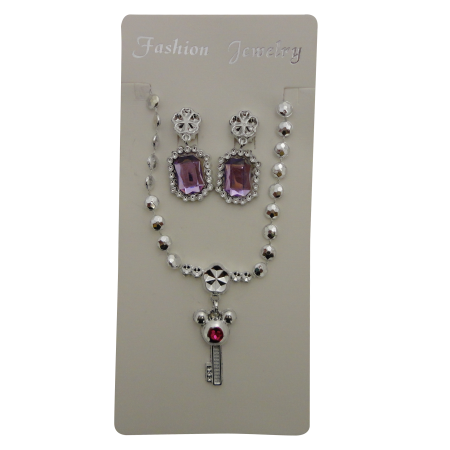 Pink Key Pendant Set (1)