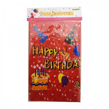 Happy Birthday Cake Table Cover (1)