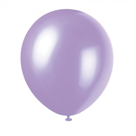 Dusty Lavender Solid Color Latex Balloons (10)