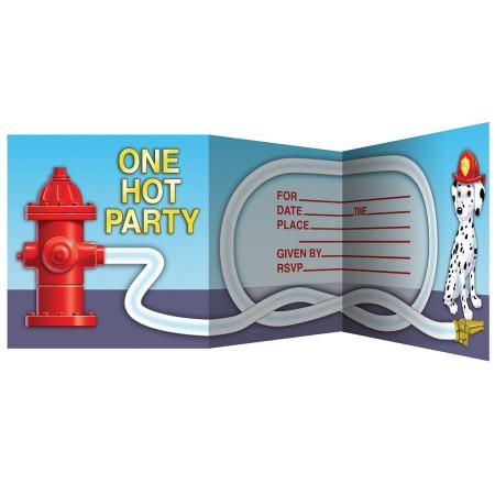 Firefighter Invitations (8)