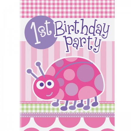 First Birthday Ladybug Invitations (8)