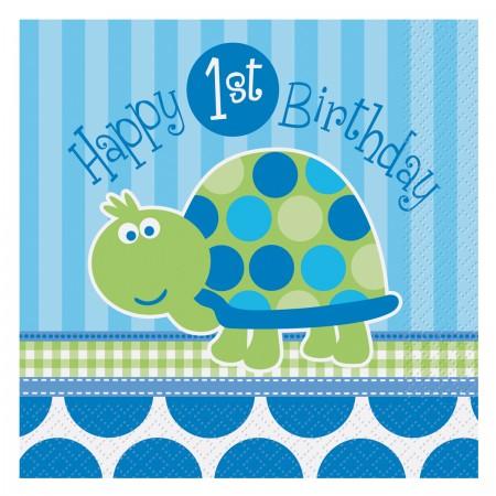 First Birthday Turtle Lunch Napkins (16)