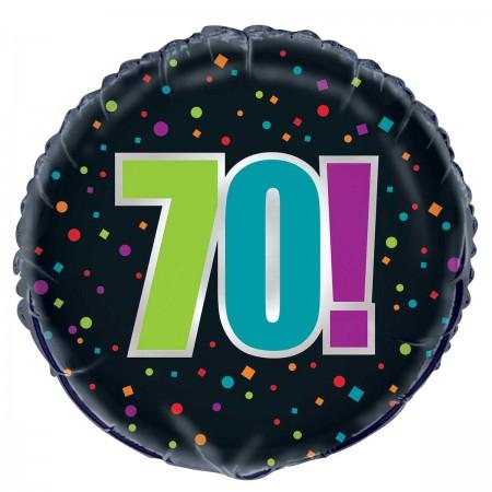 "70th Milestone Birthday Foil Balloon 18"" (1)"