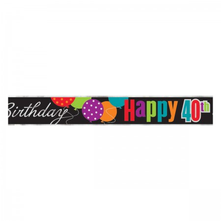 40th Milestone Birthday Foil Banner (1)