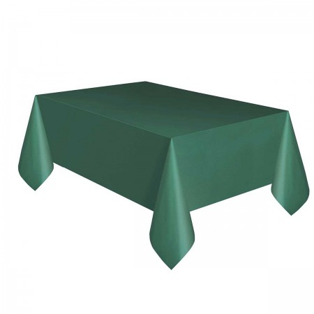 Forest Green Plastic Tablecover (1)