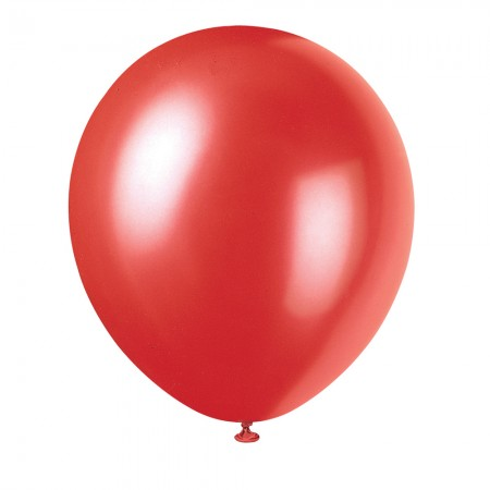 Frosted Red Solid Color Latex Balloons (10)