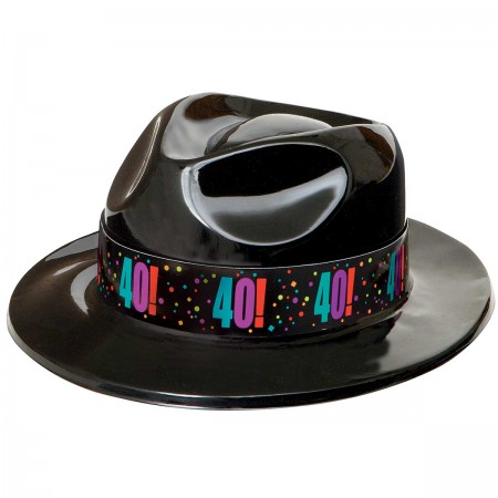 40th Milestone Birthday Gangster Party Hat 1