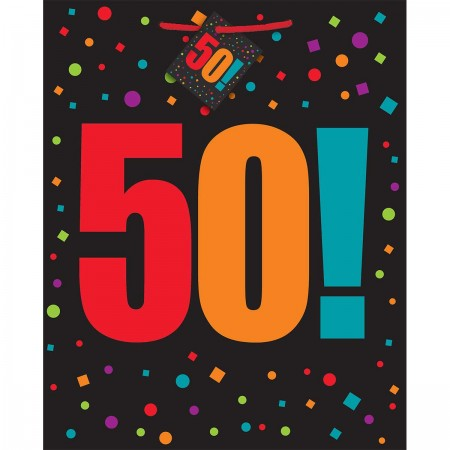 50th Milestone Birthday Large Gift Bag (1)