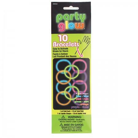 """Glow Bracelets Assorted 8"""" (10)"""