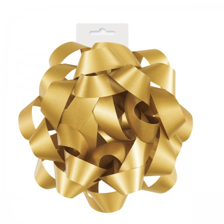 "Gold Gift Bow 6"" (1)"