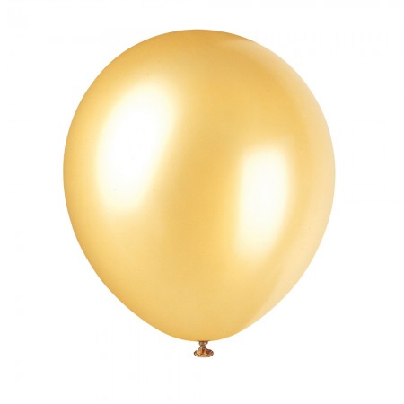 Gold Pearlized Balloons (10)