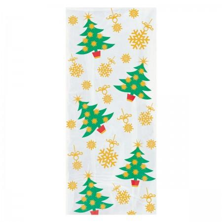 Golden Christmas Tree Cello Bags (20)