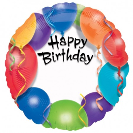 "Happy Birthday Balloon Personalized Balloon 18"" (1)"