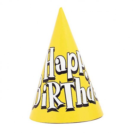 Happy Birthday Party Hats Assorted (1)