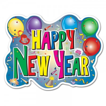 """12"""" x 16"""" Happy New Year Sign (1)"""