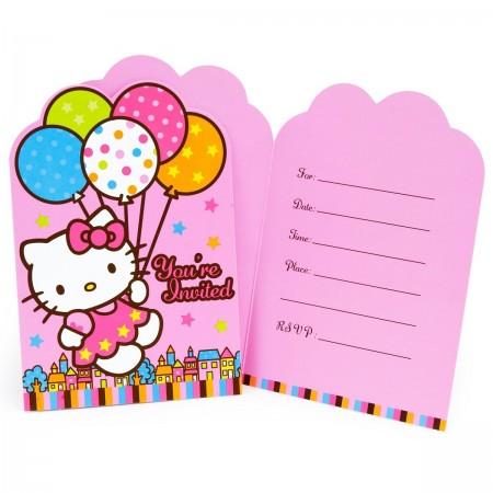 Hello Kitty Invitations (8)
