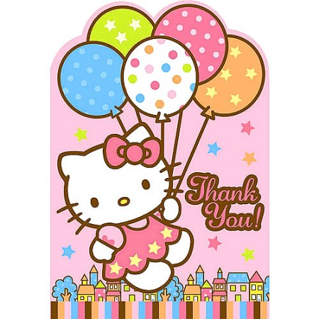 Hello Kitty Thank You Notes (8)