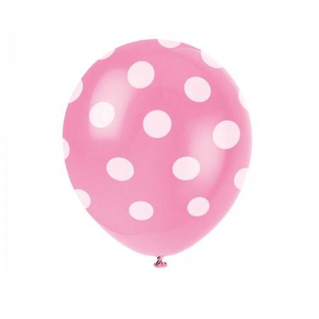 Hot Pink Polka Dots Balloons (6)