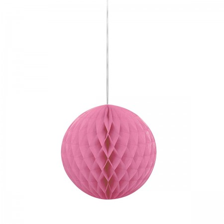 "Hot Pink Honeycomb Ball 8"" (1)"